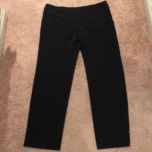 Navy blue Armani Collezioni thin wool pants 14